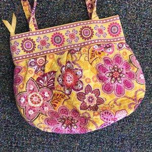 Vera Bradley Bali Gold Bucket Bag Purse